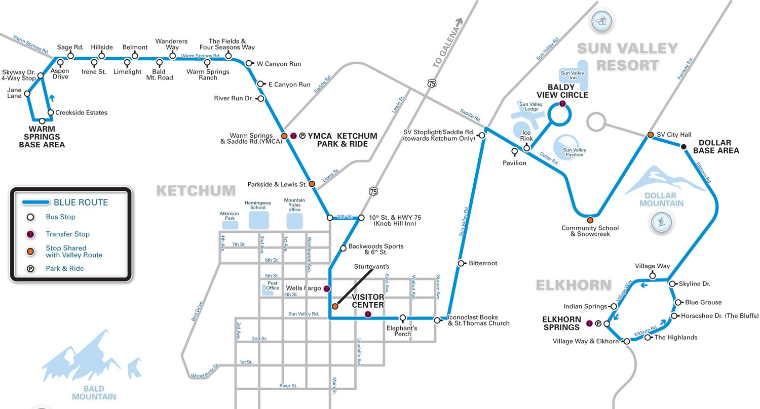 Bus Service Between Warm Springs And Elkhorn Springs